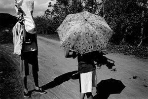 Umbrellas on caminito © Susan S. Bank
