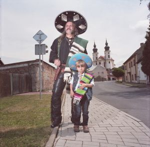 Mexican Father and Son, Brezno, Czech Republic, 2014