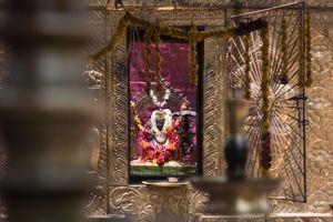 Idol of Sridevi Bhagavathy at the Kotakulangara Temple. Kotakulangara Temple, Kerala, India 2017