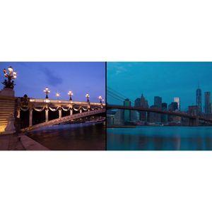 Still from the split-screen time-lapse video, Paris-NY © Franck Matellini