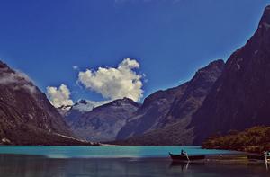 Lake Llanganuco, Huscaran National Park, Peru.