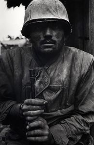 Shell-shocked US Marine. Vietnam, Hue, 1968. Printed 2013.