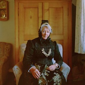 Adeline Weber in her garb for Golden Wedding, Black Forest, 2017. From the series: The last women in their traditional peasant garbs