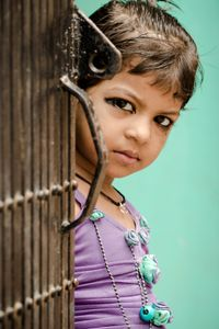 The homeless children.  In the Hindu culture, adults paint the eyes on children to protect them from the demons.