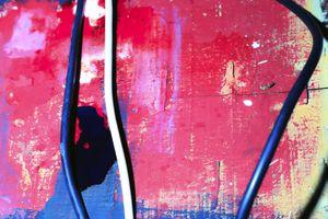 PLANCHE PEINTE EN COURS DE SÉCHAGE ET CABLES INFORMATIQUES                      2013 - FRANCE                                                               Format  - 150X100 - 5 EX.                 Format  - 70X100 - 5 EX.                   Format  - 60X40 - 5 EX.                                                    © Louis-Paul Ordonneau