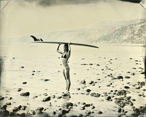 "07.02.17 #4 Maud, 8"" x 10"" unique tintype © Joni Sternbach"