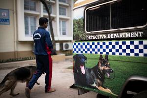 The Kolkata Police Dog Squad heads out for a raid.