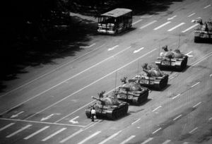 """The Tank Man."" Tiananmen Square. Beijing, China. June 4, 1989."