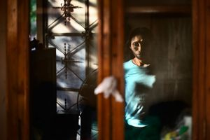 Reflection of Paloma in her quartet. © Meeri Koutaniemi