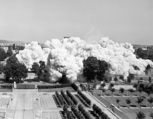 "Mantes-la-Jolie, 1 July 2001. From the series ""Implosions"" © Mathieu Pernot"