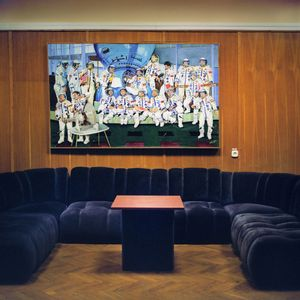 Interkosmos painting, R Bobovich, 1982. Reception are, Star City. © Maria Gruzdeva