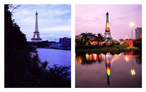 "From the series ""The eiffel tower(s)""   Paris, France / Ho Chi Minh City, Vietnam © Han Sungpil"