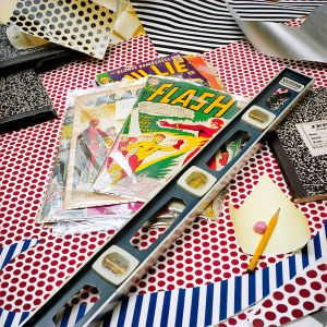 Flash with Level, 1990, from the series Inside Roy Lichtenstein's Studio © Laurie Lambrecht, 19901992