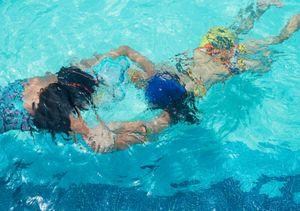 Swimmers at Sunscape Dorado Pacifico. Ixtapa.