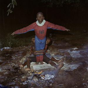Josías as Spiderman. 2012
