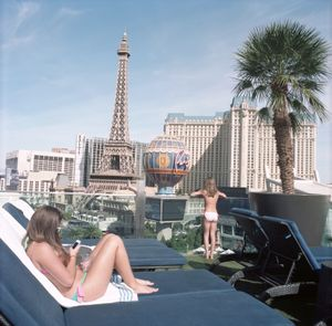 French Girls with Eiffel Tower, Las Vegas, Nevada, 2014