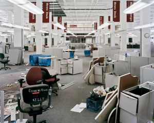 Copy Desk, Day Of Move, 7:27am, 2012 © Will Steacy