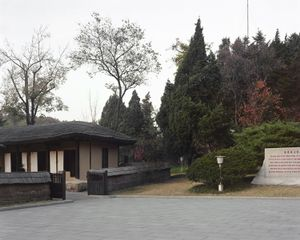 Kim Il Sung's birth house in Mangyongdae-Guyok which considered North Korea's most sacred place. © Maxime Delvaux