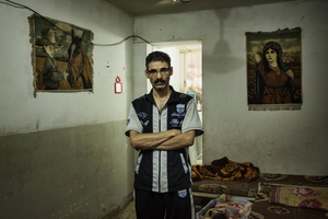 """We don't complain about the rats and mice: we live with them, we got used. But the snakes, those are dangerous, they are silent, and they bite."" Imad, 38, lives in a 12 square meters room in a basement of a disused building at the centre of the bazar, for which he pays 300.00 IQD (250 USD) per month. A former employee of the ministry of industry in Falluja, Imad lives with his wife and two kids."