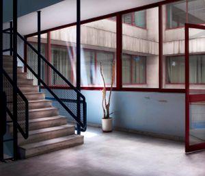 Hallway, Shipping Workers Union      © Eirini Vourloumis