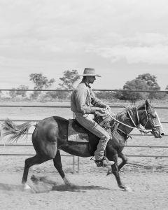 Mitchell on his horse, Halton Station, Charleville, QLD Australia, 2015.