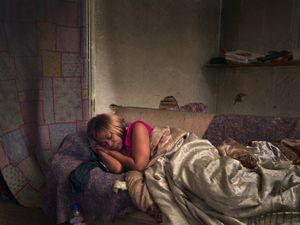 Diane Sleeping, Poletown, Eastside, Detroit 2013