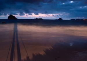 El Palmar beach. Sunrise. Ixtapa.