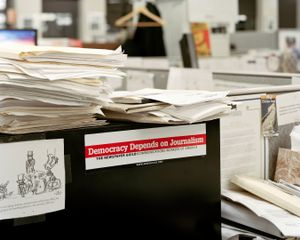 Democracy Depends On Journalism, 8:33pm, 2012 © Will Steacy