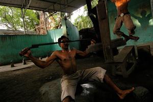 Into the gym. Kolkata, India.