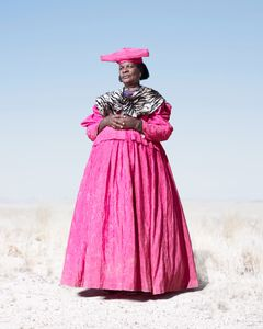 Lady in Pink with Zebra Scarf © Jim Naughten