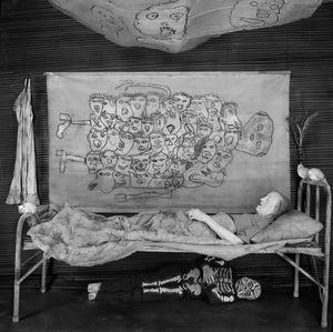 """Memento Mori. From the series """"Asylum of the Birds"""" © Roger Ballen"""