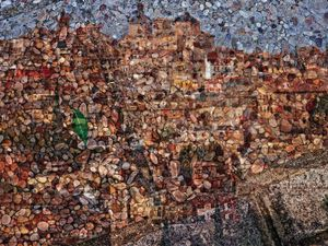 Tent-Camera Image On Ground: General View of Toledo, Toledo, Spain, 2013 © Abelardo Morell
