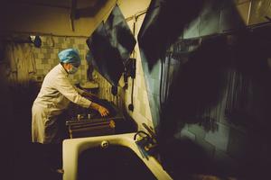 Drying of X-rays. Zhdanovka penal colony #3, Donbass, February 2011.