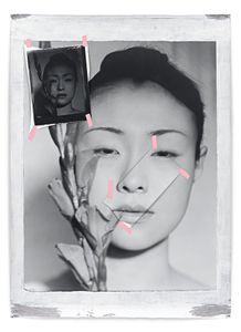 Yuki, 2005, 178 x 127 cm, Silver Gelatin Print, Mixed Media © Jeff Cowen