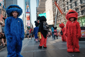 The 30 icons from 5 years ago, expanded to over 200. The fact that costumed characters and street performers will no longer be allowed to roam free in New York's Times Square will significantly change the atmosphere of the popular public space.