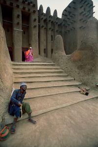 Djenné, Mali: Imam coming out of a great Djenné mosque. © Matjaz Krivic