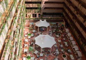 Restaurant area. Barcelo Hotel. Ixtapa.