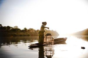 Migrant fisherwoman