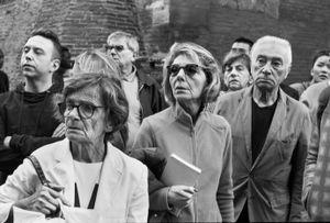 Folla al passaggio della Madonna di San Luca