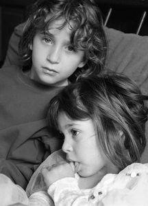 Lara and Maya, Brookline 2002