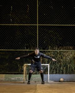 "Michael Nascimento, ""Santa Marta"" goalkeeper"