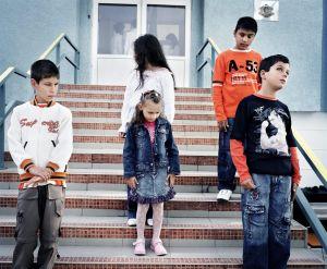 Varna, Bulgaria 2006. First day of school.