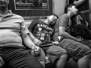 Exhausted NYC - Families (B&W) 8