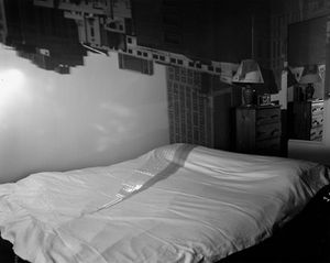 Camera Obscura Image of the Empire State Building in Bedroom, 1994 © Abelardo Morell