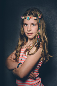 Olivia aged 10.