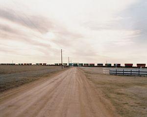 Road and Train, Hooker, Oklahoma, 2005 © Richard Renaldi