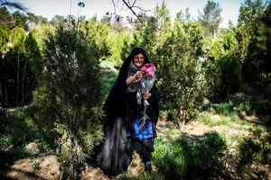 Mother of two martyrs When her sons were killed in war Every week she goes to visit them . its the only way for her calm .
