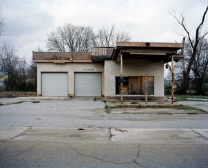 Abandoned garage. WEST ANNISTON, ALABAMA. 2012