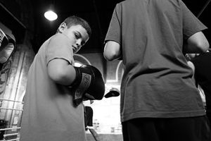 Children in this gym start their training during their pre-school years, usually brought by their parents. They appreciate this first as an after school activity, then the love for the boxing training itself follows.