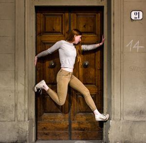 Girl Suspended in Door Florence